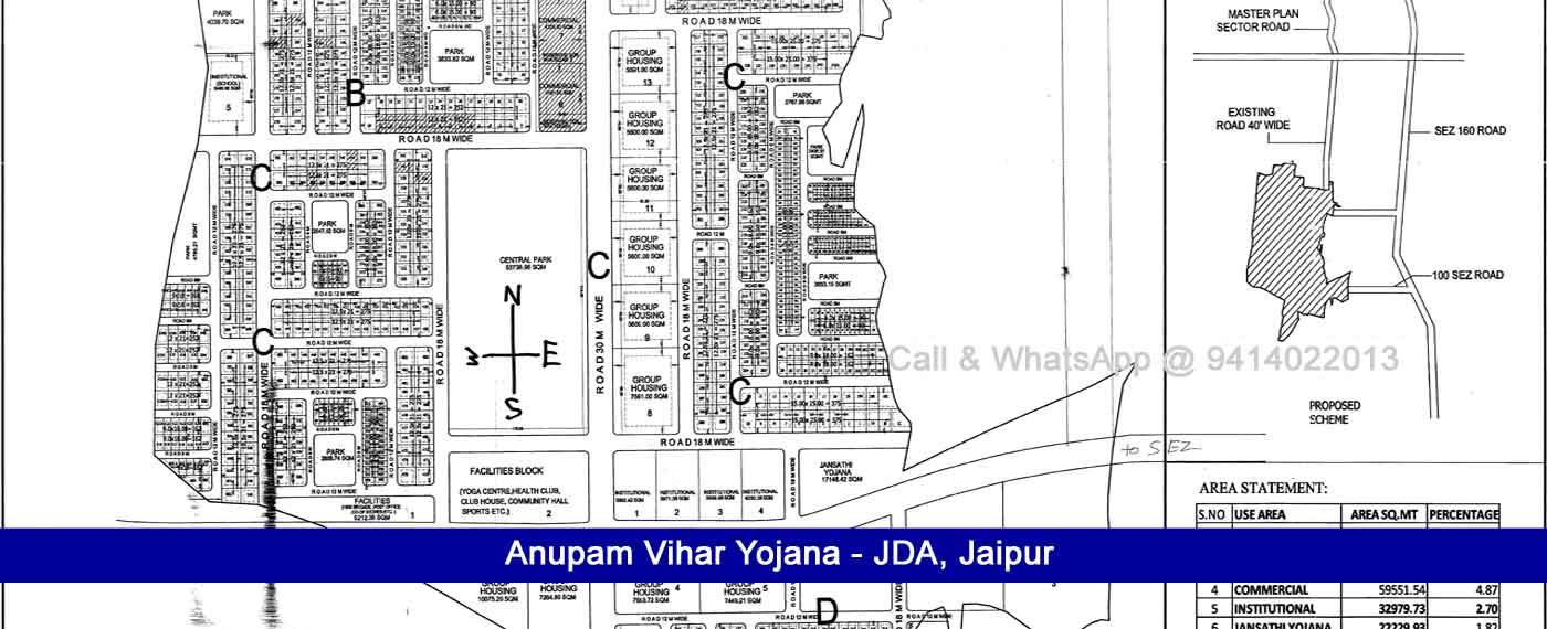 Anupam Vihar Yojana Jaipur, Anupam Vihar Jda Scheme