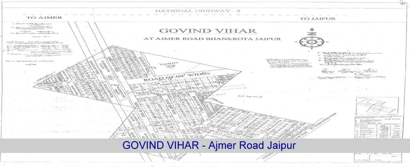 Govind Vihar Jaipur Jda Approved Plots for Sale Bhankrota Ajmer Road