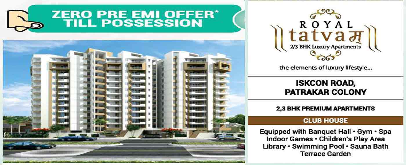 Royal Tatvam 2 & 3 Bhk Luxury Apartments Flats for Sale Near Iskcon Road Patrakar Colony Jaipur
