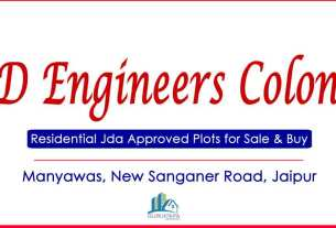 6D Engineers Colony Jda Approved Plots for Sale Manyawas New Sanaganer Road Jaipur