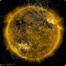 Une seul image de l'éléctro-magnétisme solaire