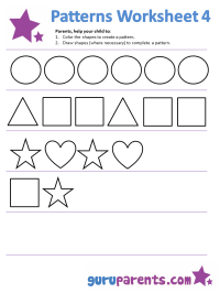 Pattern Worksheets   guruparents