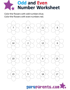Odd and even numbers worksheets also number guruparents rh