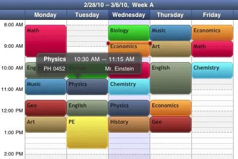 Timetable exámenes