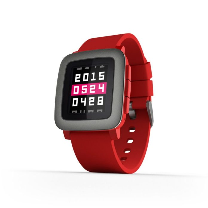 pebble time rojo en oferta
