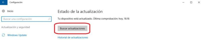 windows 10 actualizaciones