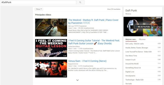 daftpunk youtube hastag
