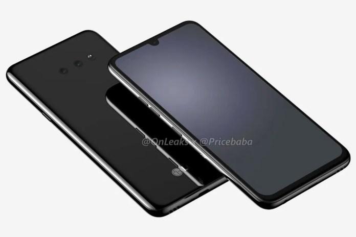 El diseño del LG G8X ThinQ muestra un notch más pequeño y dos cámaras traseras