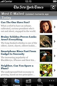 NYTimes for iPhone, iPod touch, and iPad on the iTunes App Store