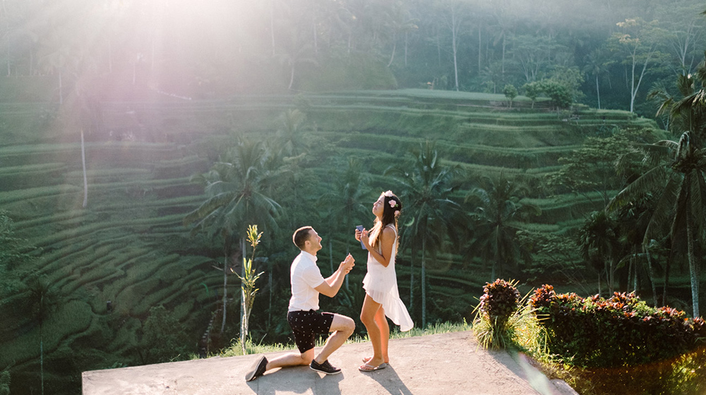 Bob  Vanessa Ubud Bali Surprise Proposal Photography  Gusmank