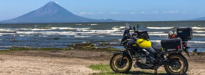 V-Strom 650 Round the world. Nicaragua Volcan Conception