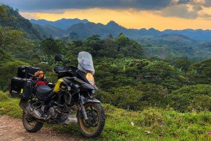 V-Strom 650xt travel offroad guatemala