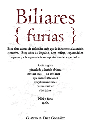 Biliares { Furias } certificado de autenticidad (anverso) | por Gustavo A. Díaz G.