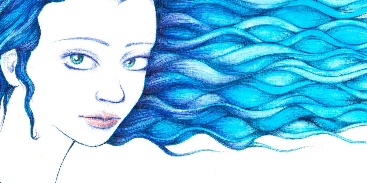 Dibujo: Aura, torrente, susurro (detalle/banner) | por Gustavo A. Díaz G.