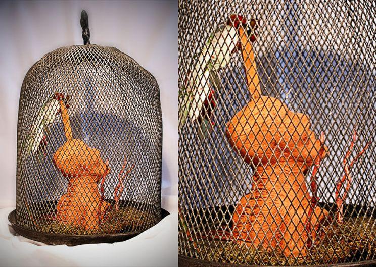 Escultura: Causalidad y Jaula (fondo blanco, detalle 03) | por Gustavo A. Díaz G.