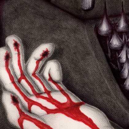 Dibujo: Agonía creativa (La Nada). detalle 2 | por: Gustavo Adolfo Diaz G.