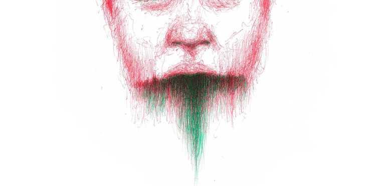 Dibujo: Rojo y verde; Negro 03 (detalle banner)