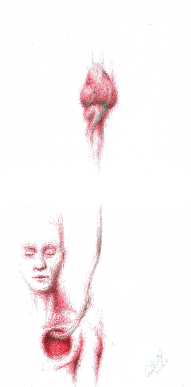 Dibujo: Rojo y verde; Negro 06 (ensamblaje digital)
