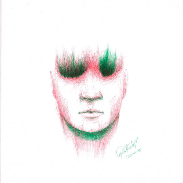Dibujo: Rojo y verde; Negro 08