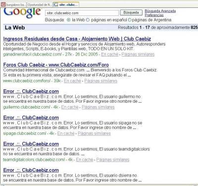 Búsqueda de encadenados en Google