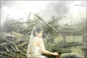 Novia y destrucción. Terremoto de Sichuan, China