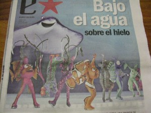 Holliday on Ice - Buscando a Nemo - Tapa fallida suplemento Clarin