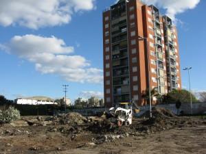 Plaza Ucrania arrasada