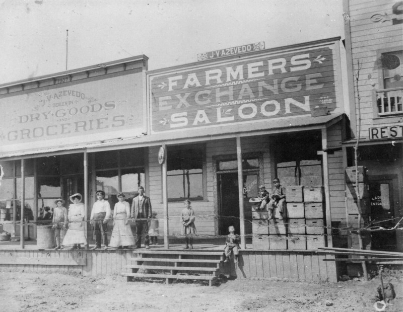 Azevedos Grocery Store and Saloon circa 1907