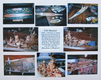 Detailed close-ups of WWII battleship USS Missouri.
