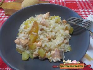 risotto patate e salmone, buono e gustoso!