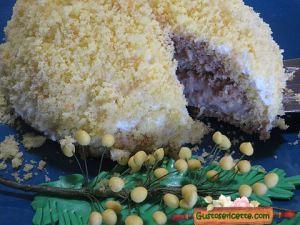 zuccotto mimosa con crema al nesquik, dolce buono e gustoso
