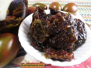 Pomodorini secchi al forno sott olio piccanti