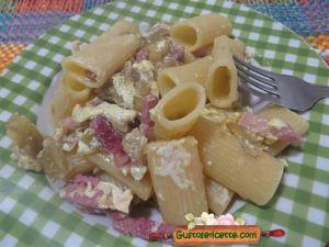 pasta carbonara carciofi