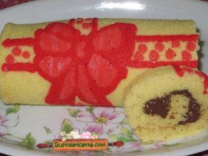Rotolo decorato fiocco rosso