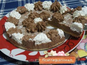 cheesecake cioccolato e meringhe
