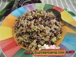 Couscous di mais senza glutine alle verdure