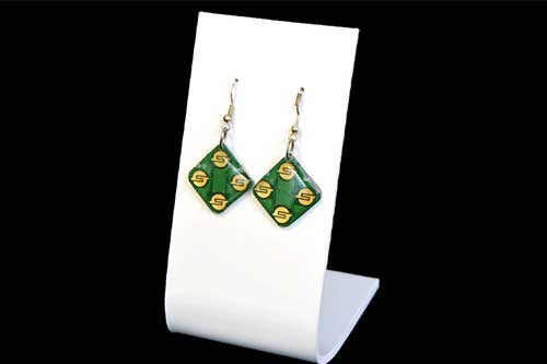 Ohrringe grün und gold