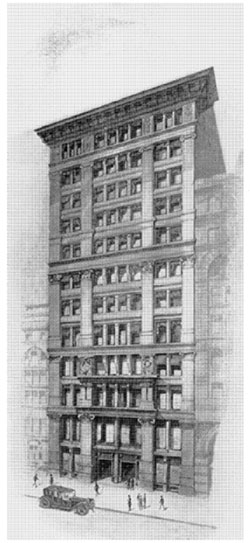 PRESENT OFFICE OF THE MANHATTAN COMPANY. 40-42 , Wall Street. Building erected jointly in 1884 by the Manhattan Company and the Merchants' National Bank.