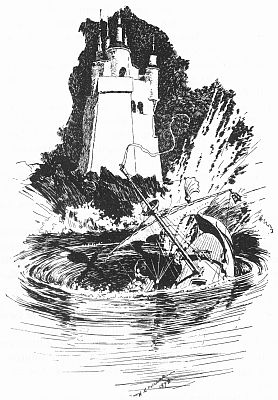 The Lone Tower on the Island of the Nine Whirlpools, from