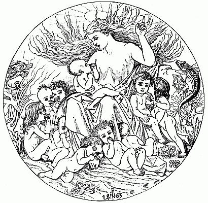 """ILLUSTRATION FROM """"THE WATER BABIES"""" BY SIR R. NOEL PATON (MACMILLAN AND CO. 1863)"""