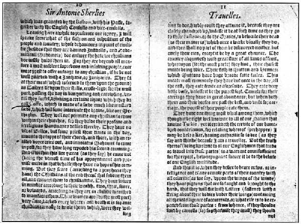 "FIRST PRINTED REFERENCE TO ""COFFEE"" IN ENGLISH, IN ITS MODERN FORM, 1601"