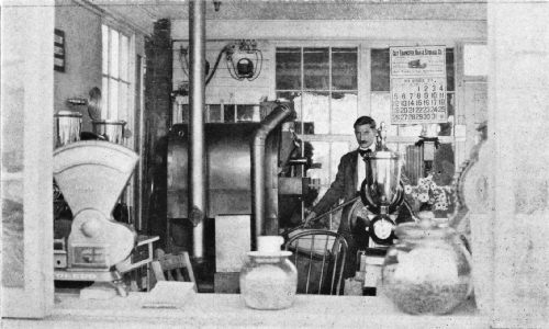 Close-up of the Miniature Manufacturing Plant, Showing the Roasting and Grinding Equipment