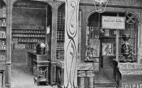 Illustrating the Coffee Roasters Used by the Shop-Keepers of France