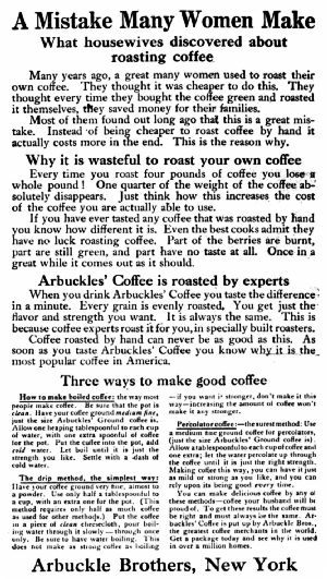Reverse Side Of The Arbuckle Handbill (In Colors) of 1872