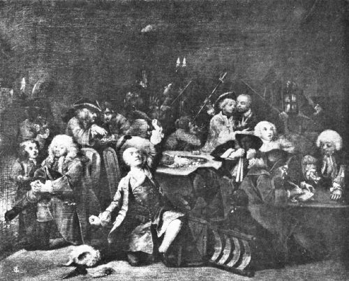 In the Club at White's Coffee House, 1733