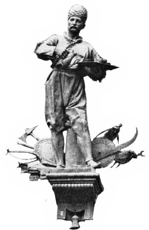 Statue of Kolschitzky in Vienna