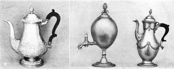 English Sheffield Plate Coffee Pots and Coffee Urn, Eighteenth Century