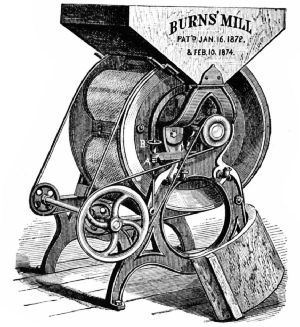 Burns Granulating Mill, 1872–74
