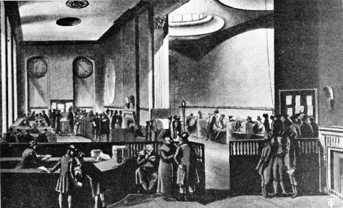 Lloyd's Coffee House in the Royal Exchange, Showing the Subscription Room