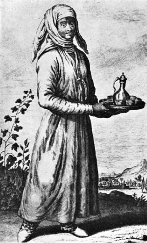 Nubian Slave Girl with Coffee Service, Persia